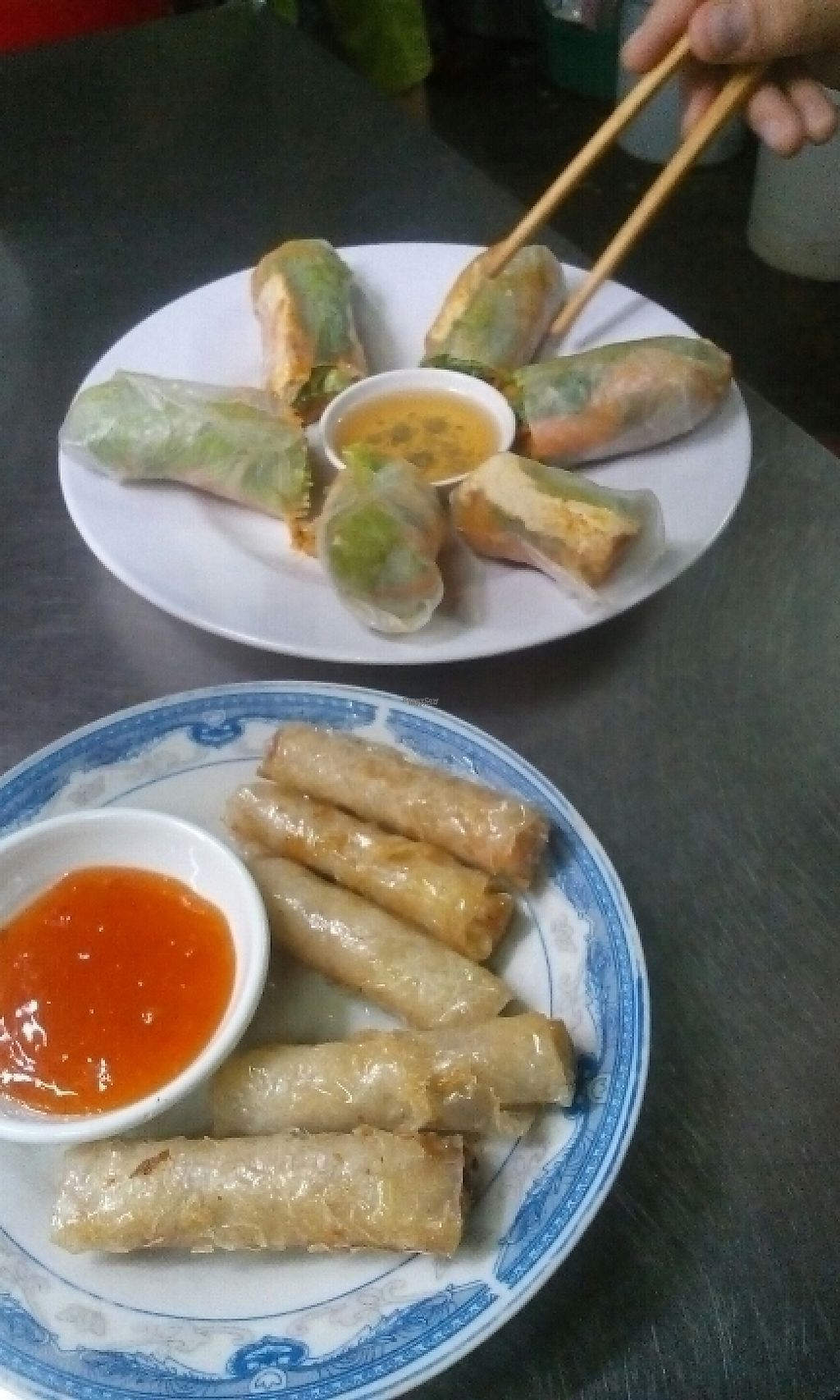 """Photo of Mrs. Diep  by <a href=""""/members/profile/Ihtak"""">Ihtak</a> <br/>Fresh an Fried Springrolls <br/> March 12, 2017  - <a href='/contact/abuse/image/88514/235673'>Report</a>"""