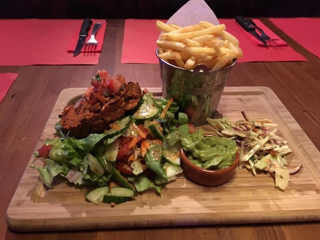 "Photo of Smithy's Tavern  by <a href=""/members/profile/community5"">community5</a> <br/>Naked spicy bean burger with fresh salsa and guac <br/> March 15, 2017  - <a href='/contact/abuse/image/88532/236887'>Report</a>"