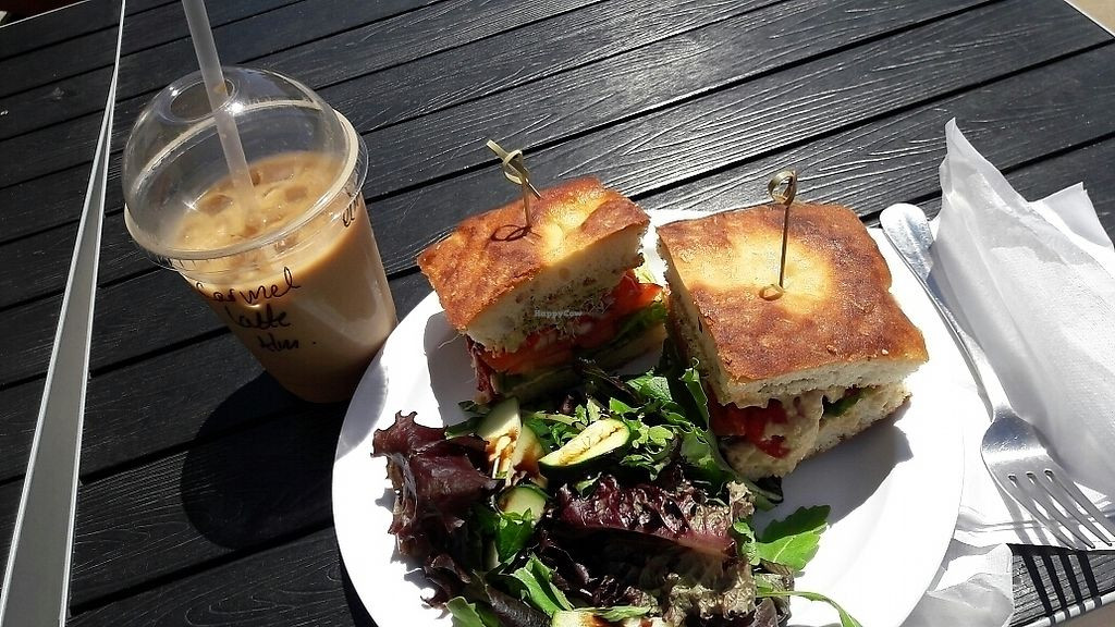 """Photo of Honey Cup Coffee and Kitchen  by <a href=""""/members/profile/piffelina"""">piffelina</a> <br/>veggie sandwich <br/> June 17, 2017  - <a href='/contact/abuse/image/88573/269864'>Report</a>"""