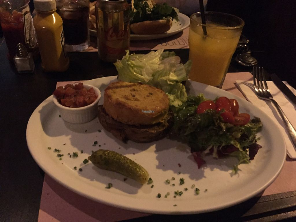 "Photo of Casa Ramona  by <a href=""/members/profile/Paolla"">Paolla</a> <br/>Vegan burger with salad <br/> April 13, 2017  - <a href='/contact/abuse/image/88590/247437'>Report</a>"
