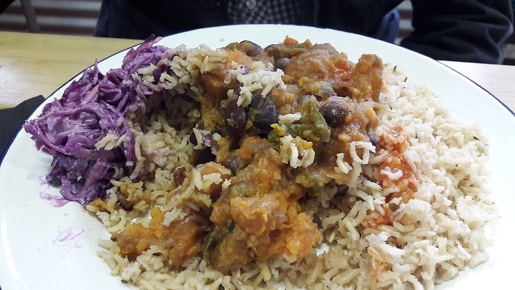 """Photo of Jerk Shack  by <a href=""""/members/profile/Veganolive1"""">Veganolive1</a> <br/>Sweet potato & black bean curry <br/> March 13, 2017  - <a href='/contact/abuse/image/88594/235934'>Report</a>"""