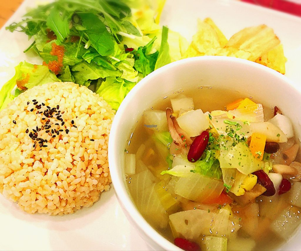"""Photo of Nobister  by <a href=""""/members/profile/Juri"""">Juri</a> <br/>Nobister's signature vegetable soup 15 kinds of vegetables seasoned w/ homemade salt <br/> March 25, 2017  - <a href='/contact/abuse/image/88623/240905'>Report</a>"""