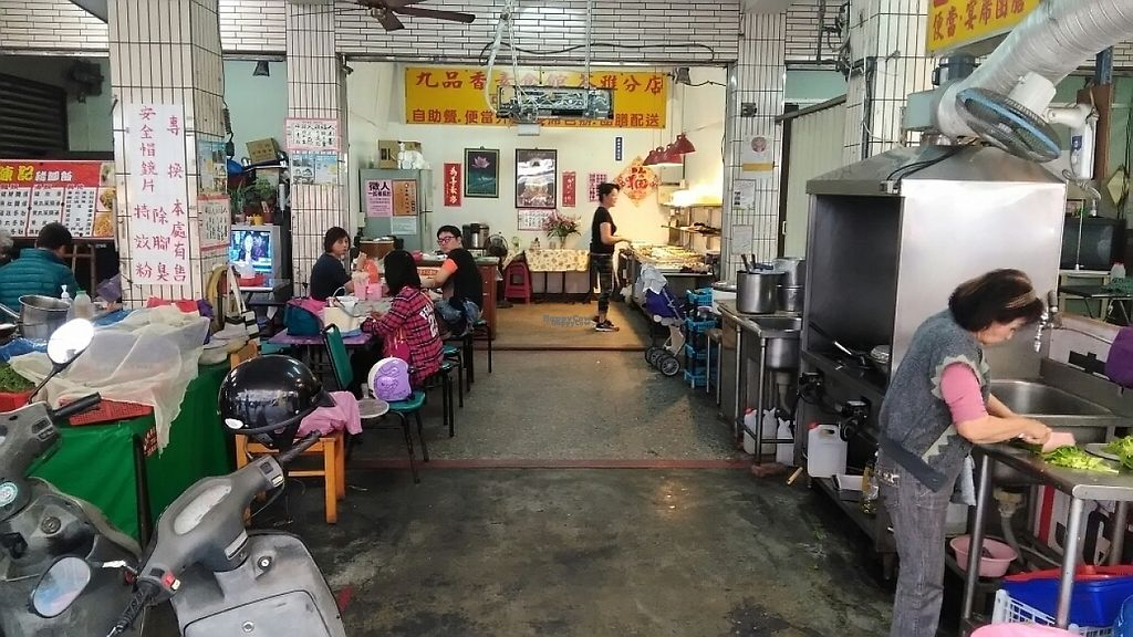 """Photo of Jiu Pin Xiang Vegetarian - Lingya Night Market  by <a href=""""/members/profile/PunchbloxXx"""">PunchbloxXx</a> <br/>View into the eatery <br/> March 16, 2017  - <a href='/contact/abuse/image/88636/236917'>Report</a>"""