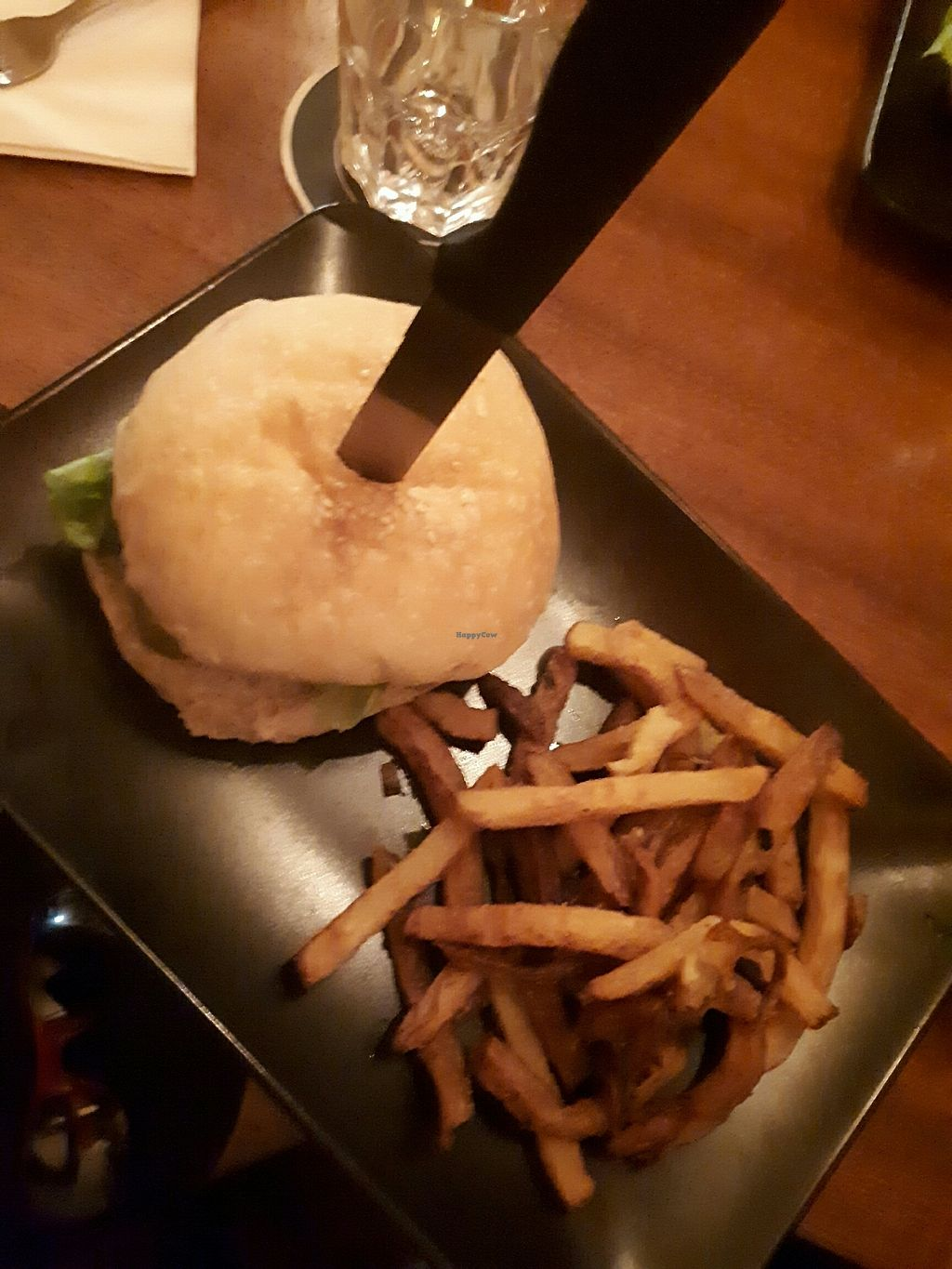 """Photo of Au Nouveau Monde  by <a href=""""/members/profile/PascalB"""">PascalB</a> <br/>Tofu burger <br/> July 9, 2017  - <a href='/contact/abuse/image/88646/278101'>Report</a>"""