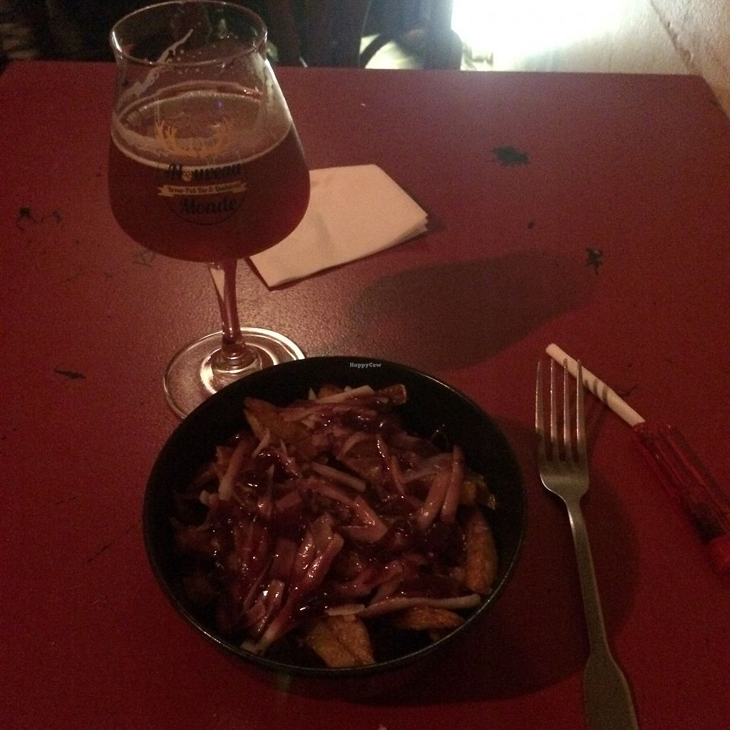 """Photo of Au Nouveau Monde  by <a href=""""/members/profile/OnDine"""">OnDine</a> <br/>small IPA and small bowl of vegan meal <br/> July 28, 2017  - <a href='/contact/abuse/image/88646/285962'>Report</a>"""