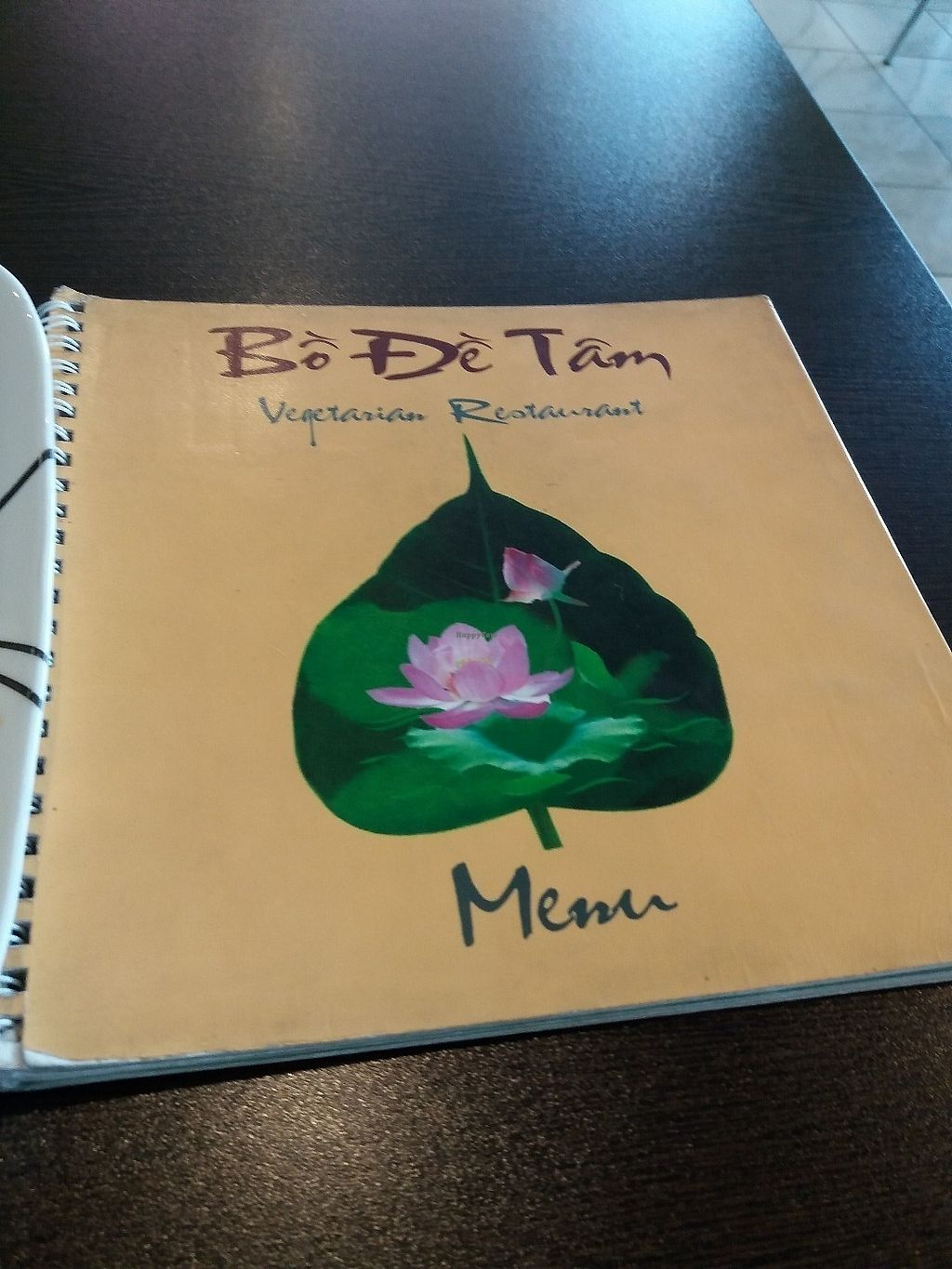 """Photo of Bo De Tam Nha Hang Chay  by <a href=""""/members/profile/veganvirtues"""">veganvirtues</a> <br/>Menu <br/> June 15, 2017  - <a href='/contact/abuse/image/88688/269275'>Report</a>"""