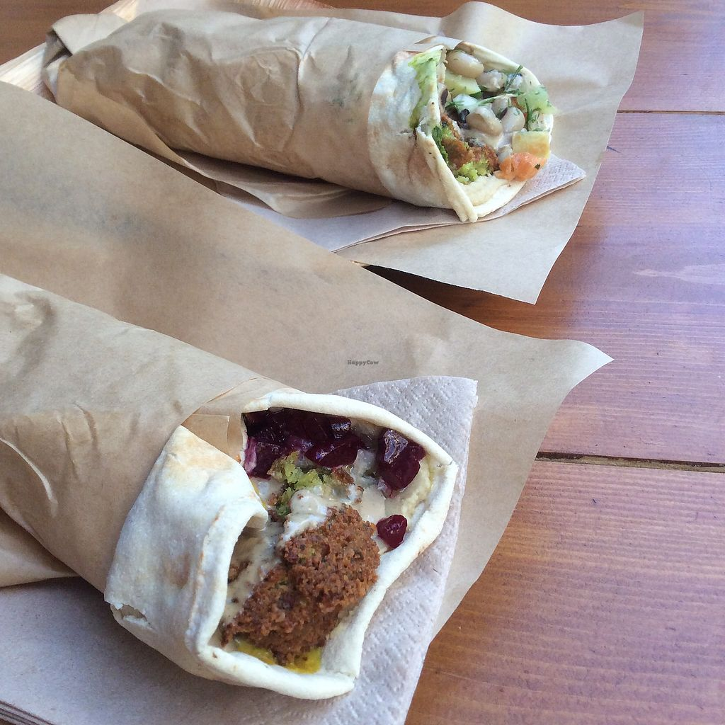 """Photo of The Chickpea  by <a href=""""/members/profile/AgataAgathe"""">AgataAgathe</a> <br/>Falafel wraps <br/> June 24, 2017  - <a href='/contact/abuse/image/88689/272860'>Report</a>"""