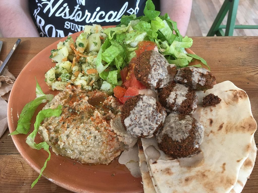 """Photo of The Chickpea  by <a href=""""/members/profile/Alina%26Deian"""">Alina&Deian</a> <br/>Falafel open plate <br/> February 16, 2018  - <a href='/contact/abuse/image/88689/360030'>Report</a>"""