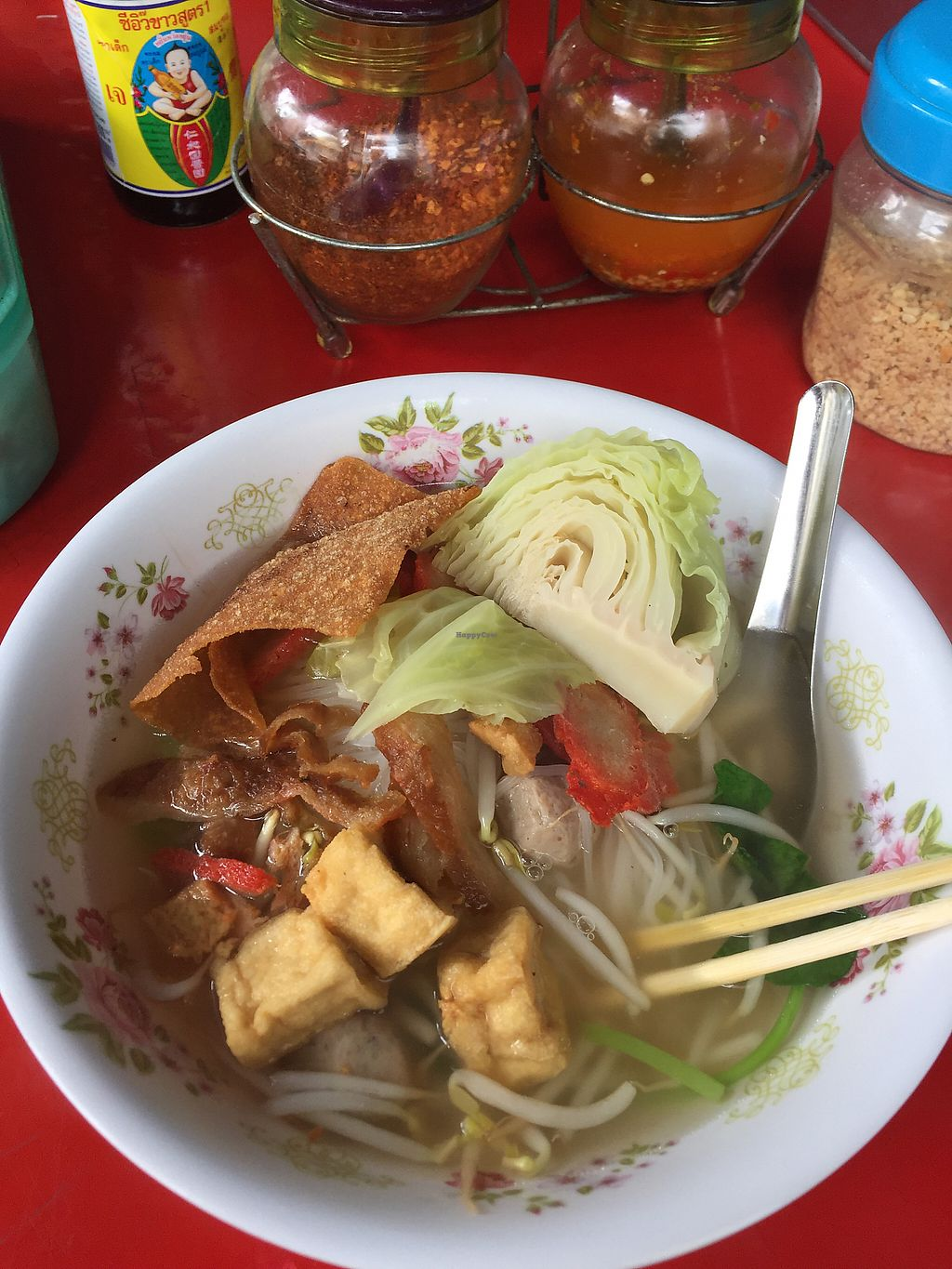 """Photo of Pan Road - Vegan Food Cart  by <a href=""""/members/profile/Bobozmom"""">Bobozmom</a> <br/>vegan noodle soup <br/> May 20, 2017  - <a href='/contact/abuse/image/88695/260541'>Report</a>"""