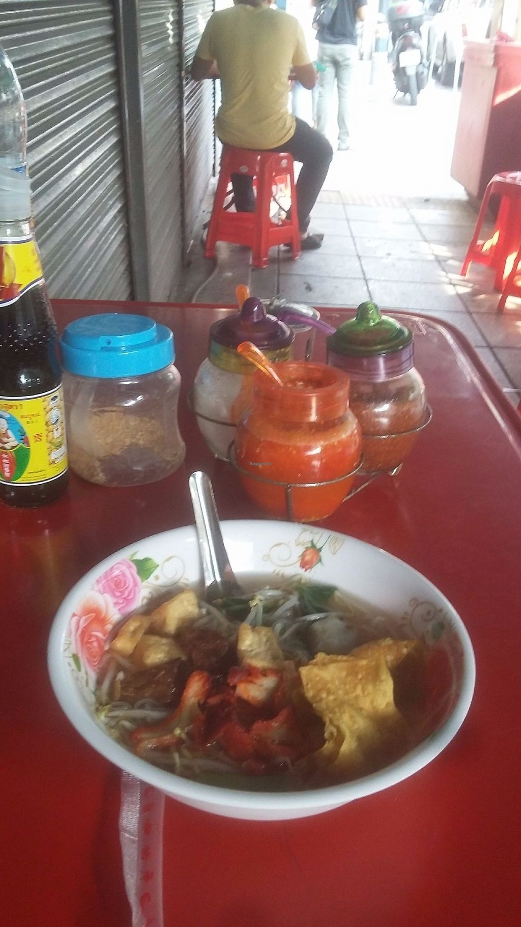 """Photo of Pan Road - Vegan Food Cart  by <a href=""""/members/profile/samlowry"""">samlowry</a> <br/>Tasty noodle soup with vegan """"pork"""" <br/> May 30, 2017  - <a href='/contact/abuse/image/88695/264231'>Report</a>"""