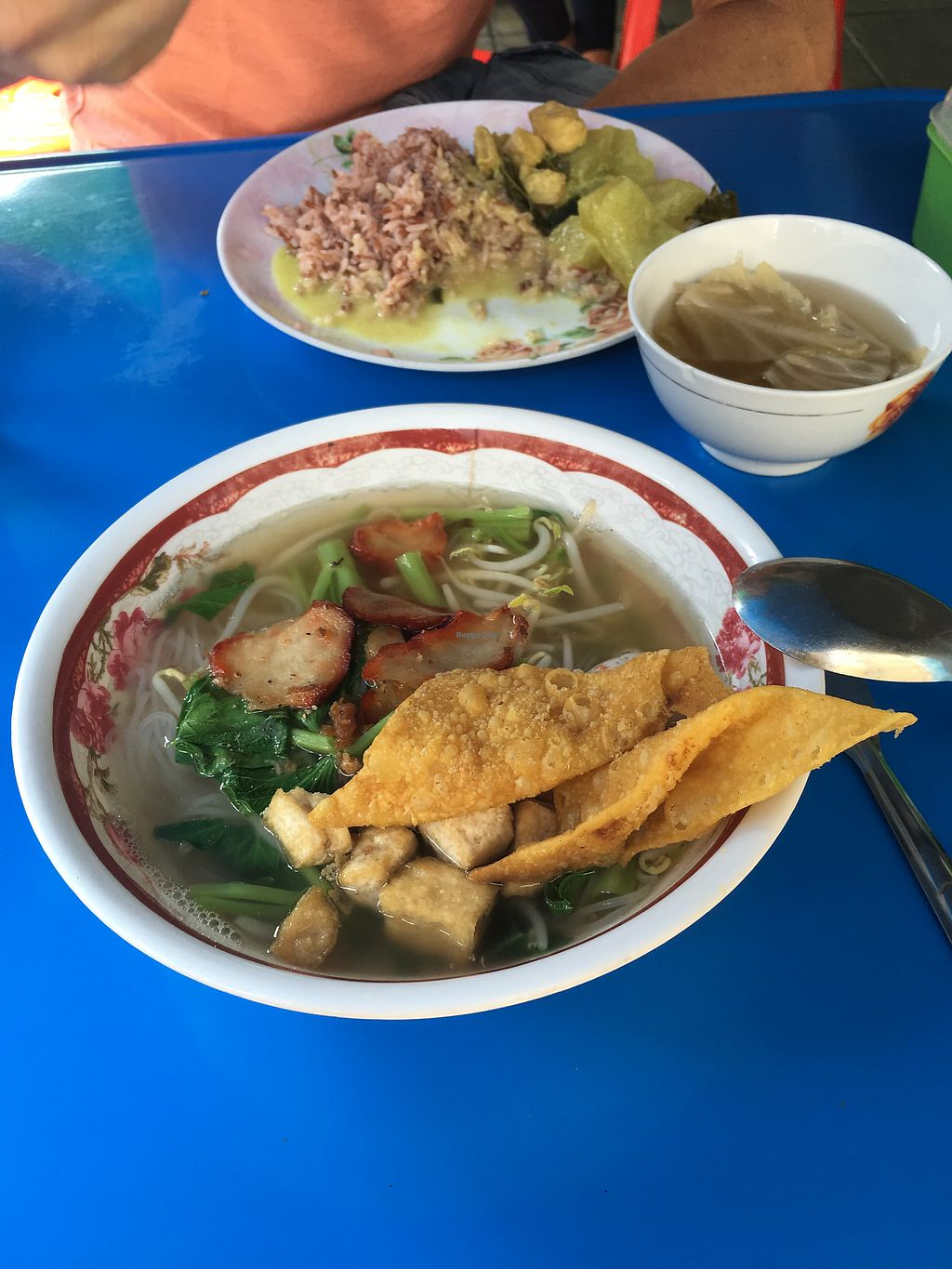 """Photo of Pan Road - Vegan Food Cart  by <a href=""""/members/profile/anneclara"""">anneclara</a> <br/>Noodle soup and green curry  <br/> March 26, 2018  - <a href='/contact/abuse/image/88695/376250'>Report</a>"""