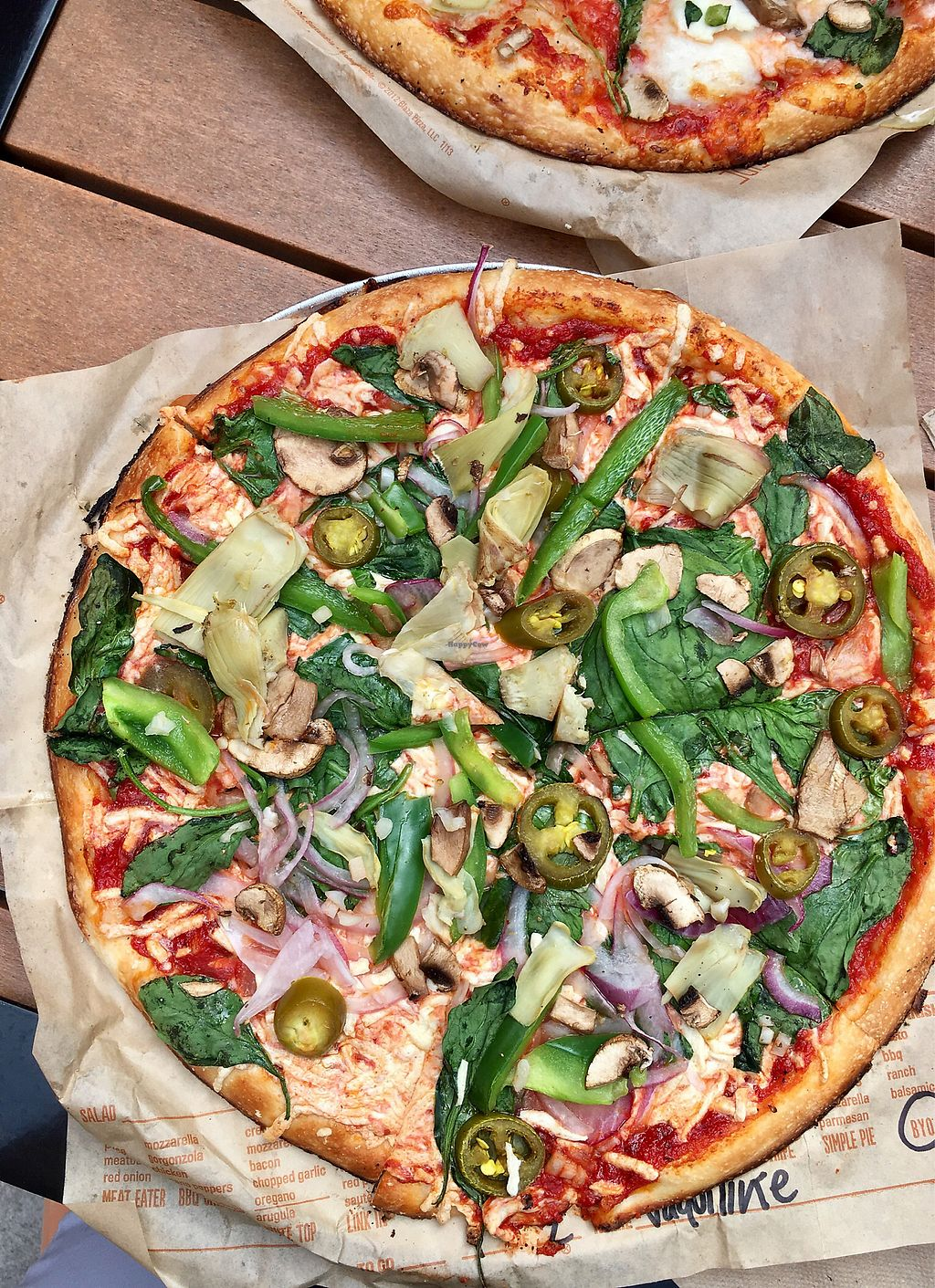 """Photo of Blaze Pizza  by <a href=""""/members/profile/Jaclynch_eats"""">Jaclynch_eats</a> <br/>Build your own with lots of veggies and vegan cheese  <br/> March 15, 2018  - <a href='/contact/abuse/image/88699/371049'>Report</a>"""