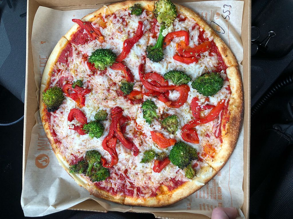 """Photo of Blaze Pizza  by <a href=""""/members/profile/SHA1107"""">SHA1107</a> <br/>Vegan cheese veggie pizza <br/> April 13, 2018  - <a href='/contact/abuse/image/88699/384885'>Report</a>"""