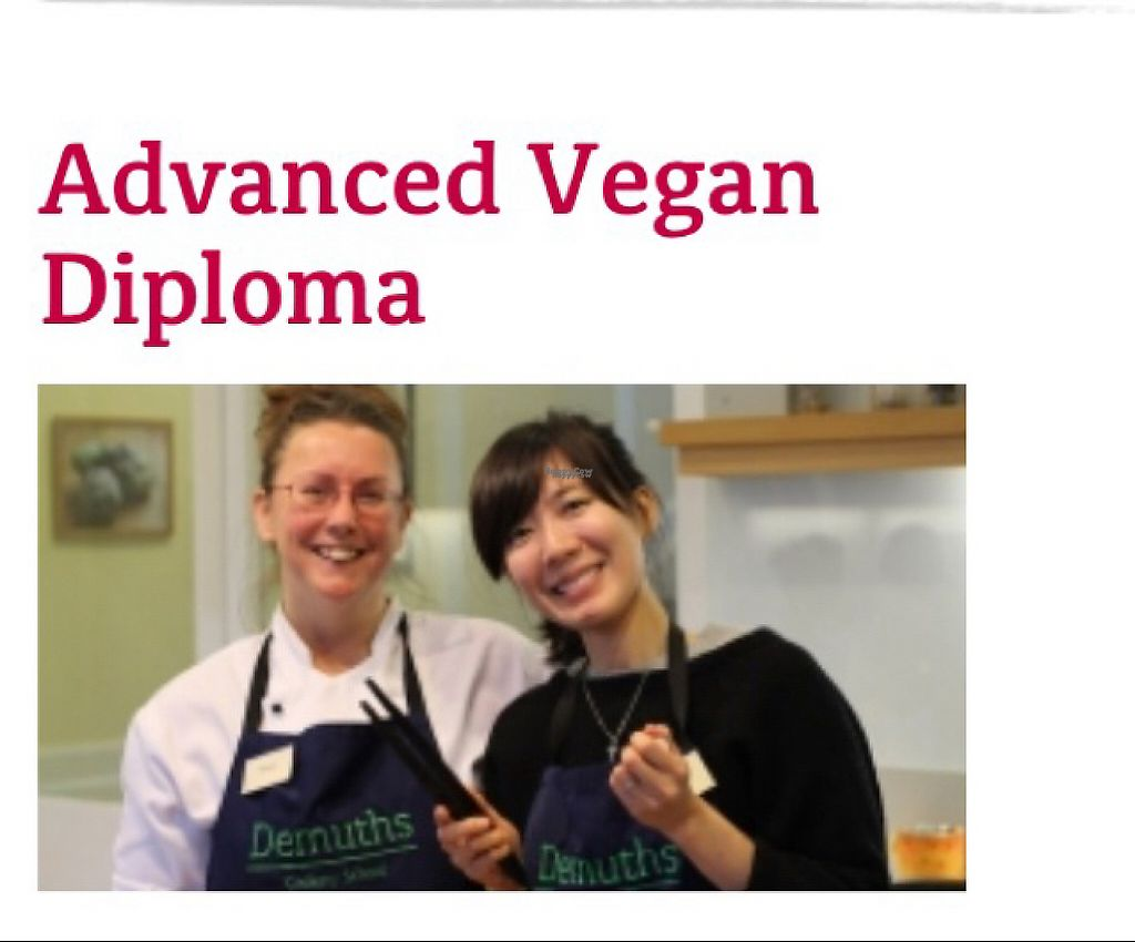 """Photo of Demuth's Vegetarian Cookery School  by <a href=""""/members/profile/VeggieFromSpace"""">VeggieFromSpace</a> <br/>vegan diploma course website <br/> April 19, 2017  - <a href='/contact/abuse/image/88702/249866'>Report</a>"""