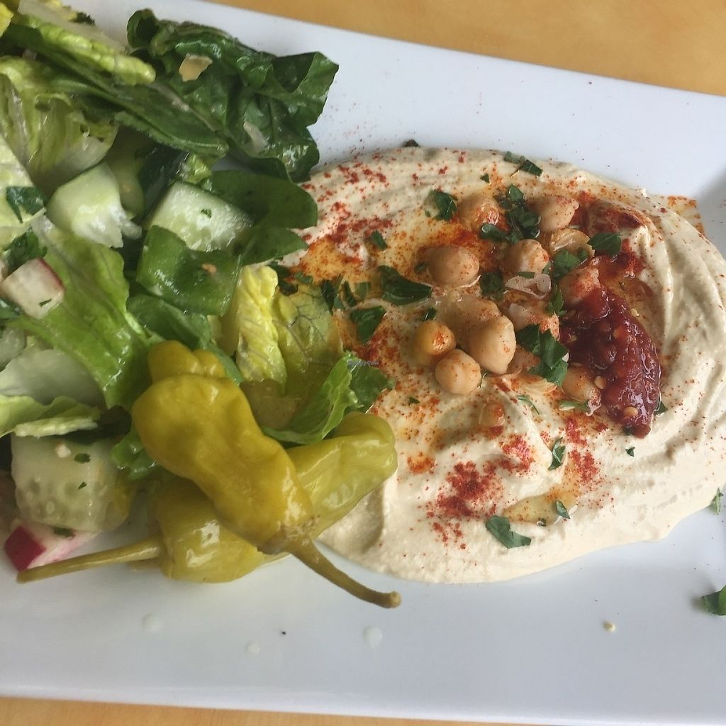 """Photo of McBani Authentic Lebanese Cuisine  by <a href=""""/members/profile/KimMiles"""">KimMiles</a> <br/>Classic Hummus Platter - delicious, super-creamy hummus <br/> May 28, 2017  - <a href='/contact/abuse/image/88727/263576'>Report</a>"""