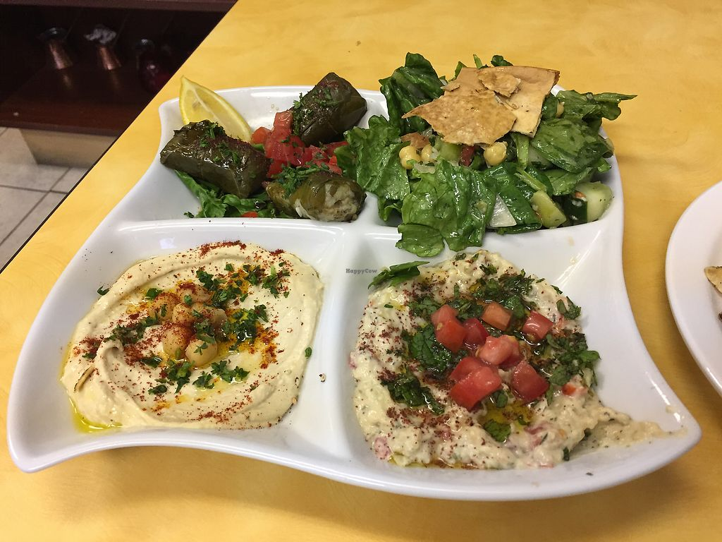 """Photo of McBani Authentic Lebanese Cuisine  by <a href=""""/members/profile/LinnDaugherty"""">LinnDaugherty</a> <br/>veggie platter <br/> July 18, 2017  - <a href='/contact/abuse/image/88727/281732'>Report</a>"""