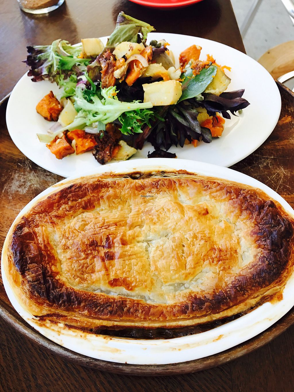 "Photo of CLOSED: LYV  by <a href=""/members/profile/NirvanaRoseWilliams"">NirvanaRoseWilliams</a> <br/>Mince and mushroom pie with roasted vegetable salad <br/> August 9, 2017  - <a href='/contact/abuse/image/88744/290671'>Report</a>"