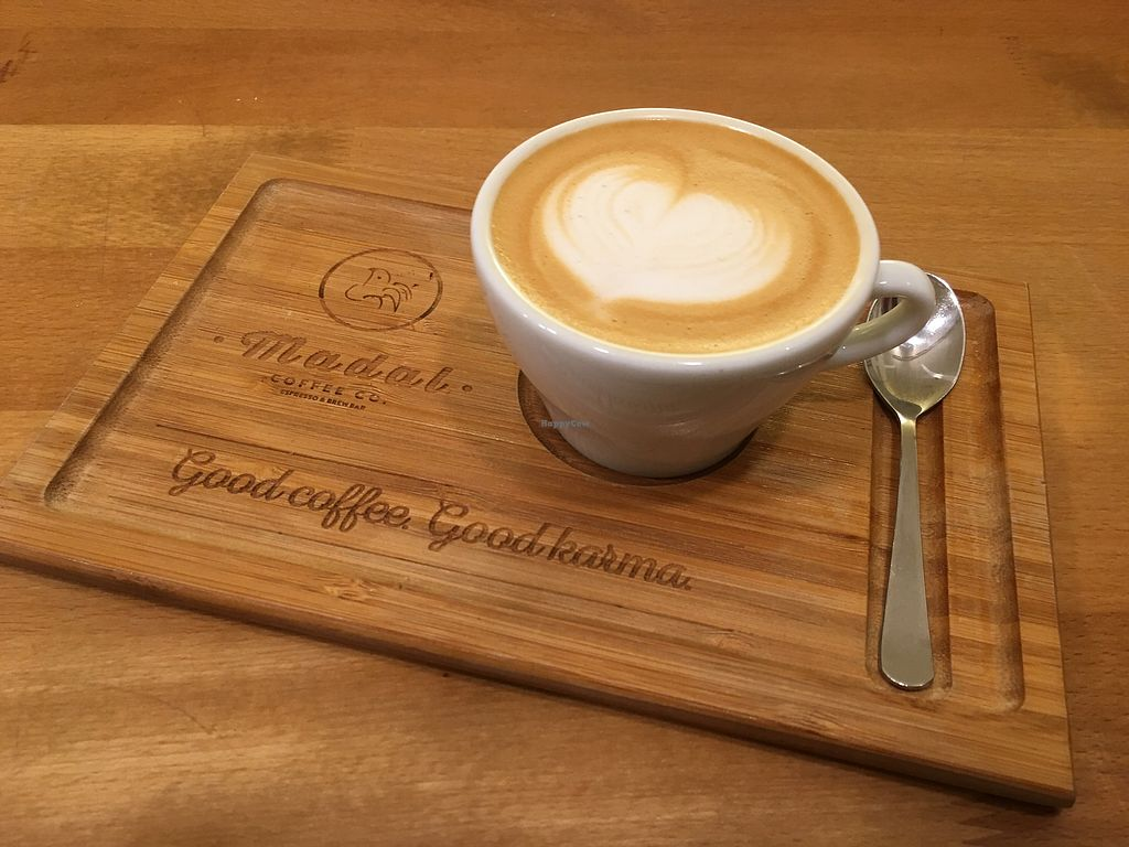 """Photo of Madal Coffee Co  by <a href=""""/members/profile/mnap"""">mnap</a> <br/>Oat milk cappuccino <br/> March 1, 2018  - <a href='/contact/abuse/image/88747/365291'>Report</a>"""