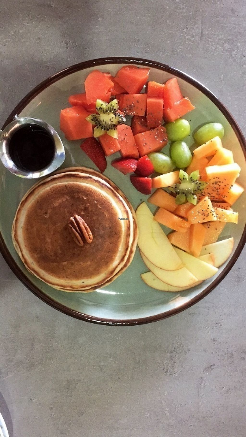 """Photo of Grunzeug Veggie Bistro  by <a href=""""/members/profile/JennGee7"""">JennGee7</a> <br/>These quinoa and chia pancakes were delicious ? <br/> March 22, 2017  - <a href='/contact/abuse/image/88762/239524'>Report</a>"""