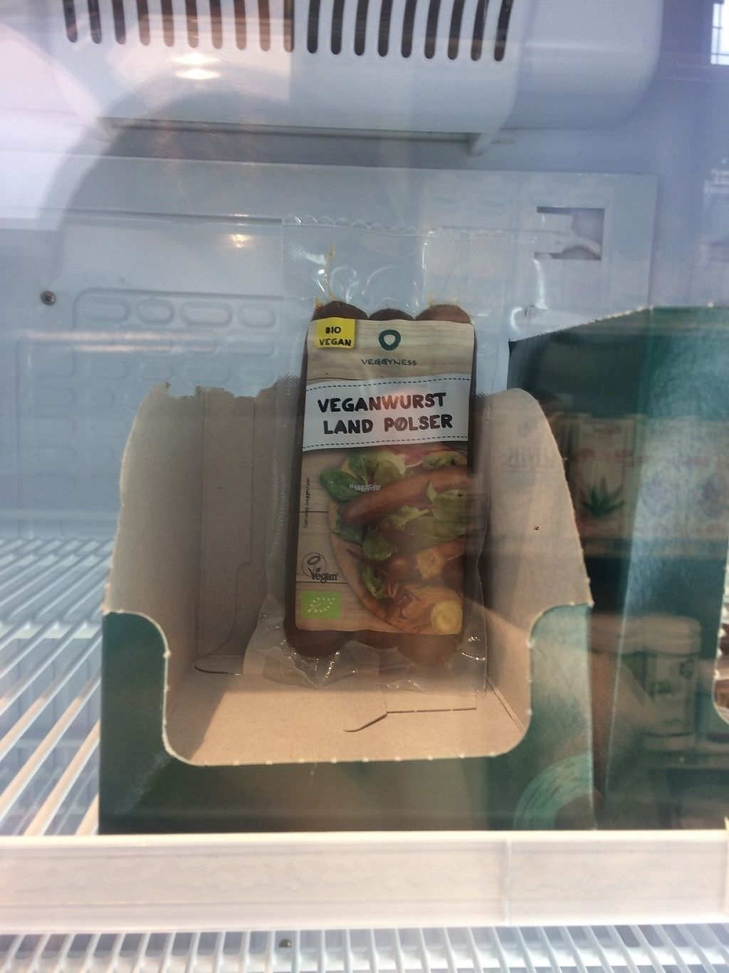 """Photo of Nava Helsemarked  by <a href=""""/members/profile/JohanneJeppesen"""">JohanneJeppesen</a> <br/>Vegan Sausage in the store <br/> March 16, 2017  - <a href='/contact/abuse/image/88767/237142'>Report</a>"""