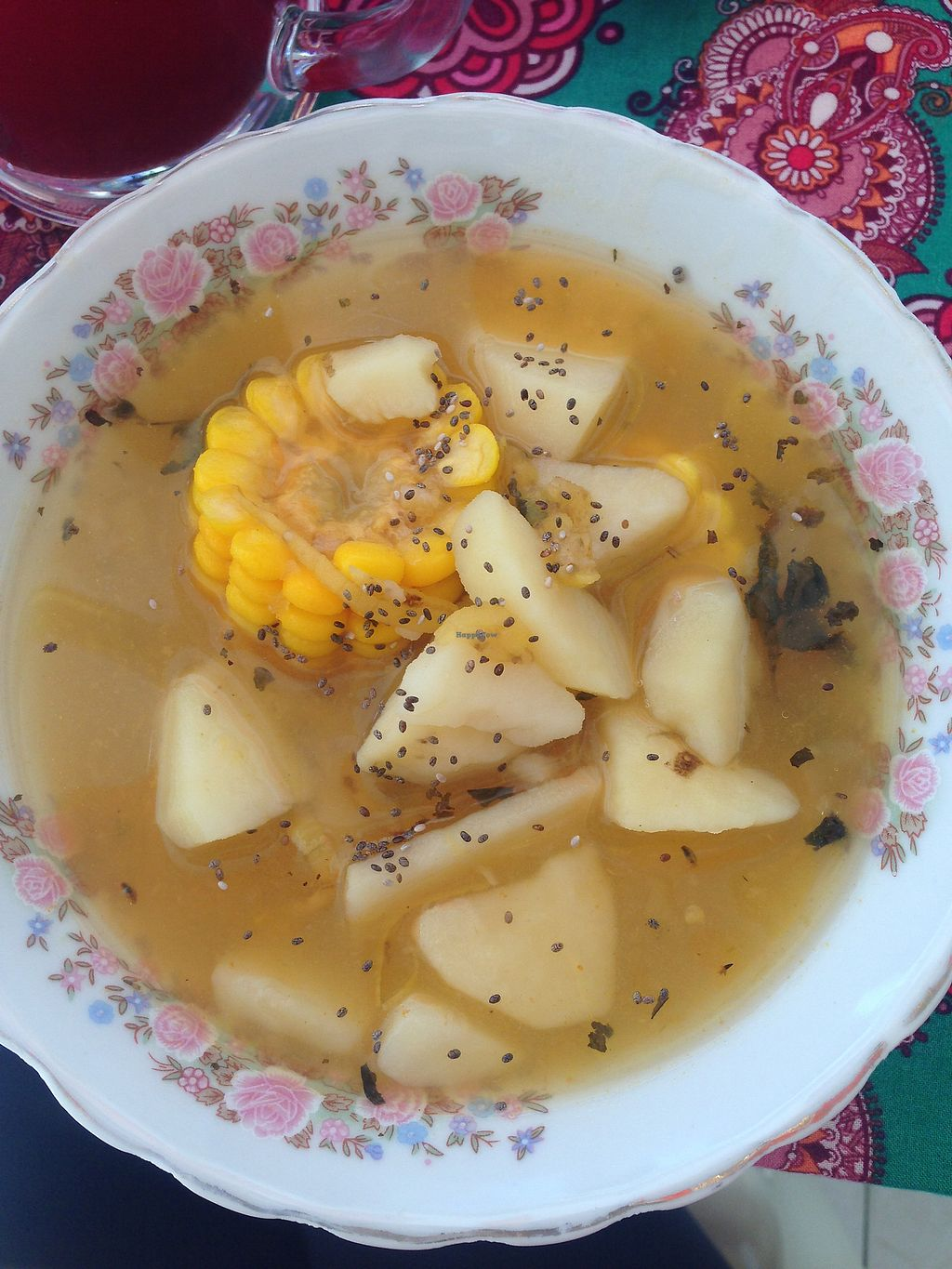 """Photo of Govinda's  by <a href=""""/members/profile/Sezbakes"""">Sezbakes</a> <br/>Potato and corn soup  <br/> October 10, 2017  - <a href='/contact/abuse/image/88768/314086'>Report</a>"""