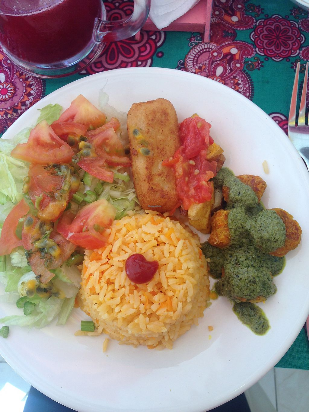 """Photo of Govinda's  by <a href=""""/members/profile/Sezbakes"""">Sezbakes</a> <br/>Rice salad yuka and pesto <br/> October 10, 2017  - <a href='/contact/abuse/image/88768/314088'>Report</a>"""