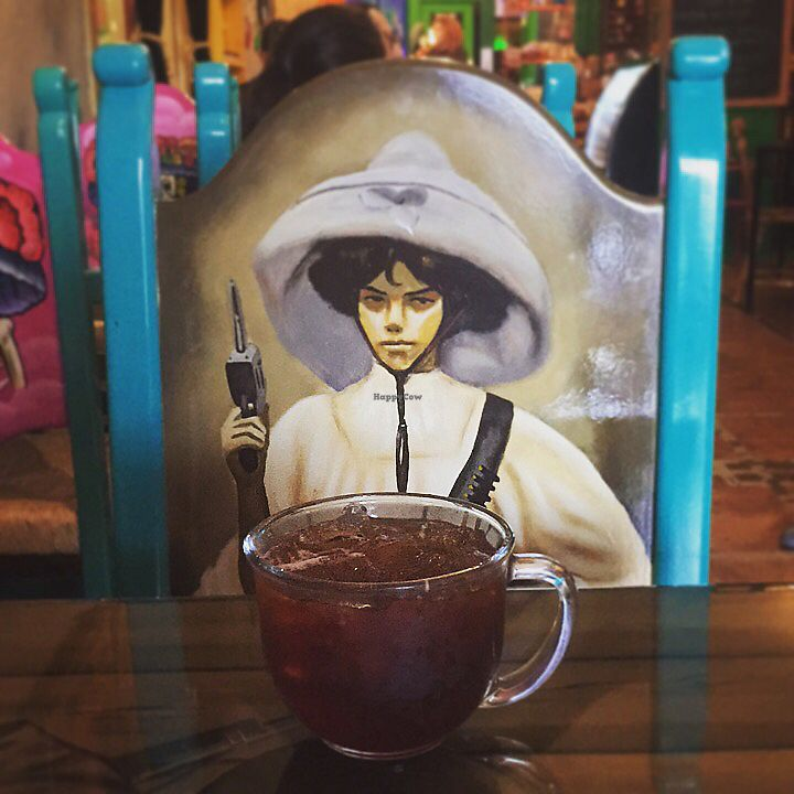 """Photo of Frida's Cafe  by <a href=""""/members/profile/happycowgirl"""">happycowgirl</a> <br/>Iced vegan cinnamon tea <br/> October 7, 2017  - <a href='/contact/abuse/image/88806/312541'>Report</a>"""