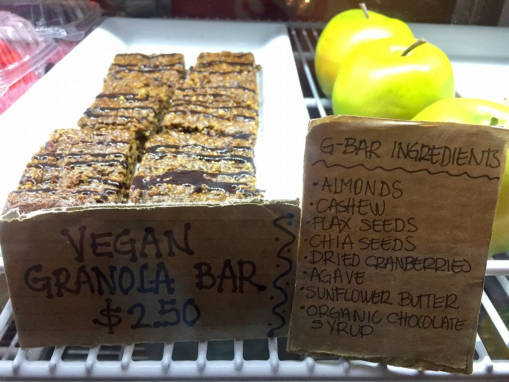 """Photo of Frida's Cafe  by <a href=""""/members/profile/happycowgirl"""">happycowgirl</a> <br/>Vegan granola bars <br/> October 7, 2017  - <a href='/contact/abuse/image/88806/312542'>Report</a>"""