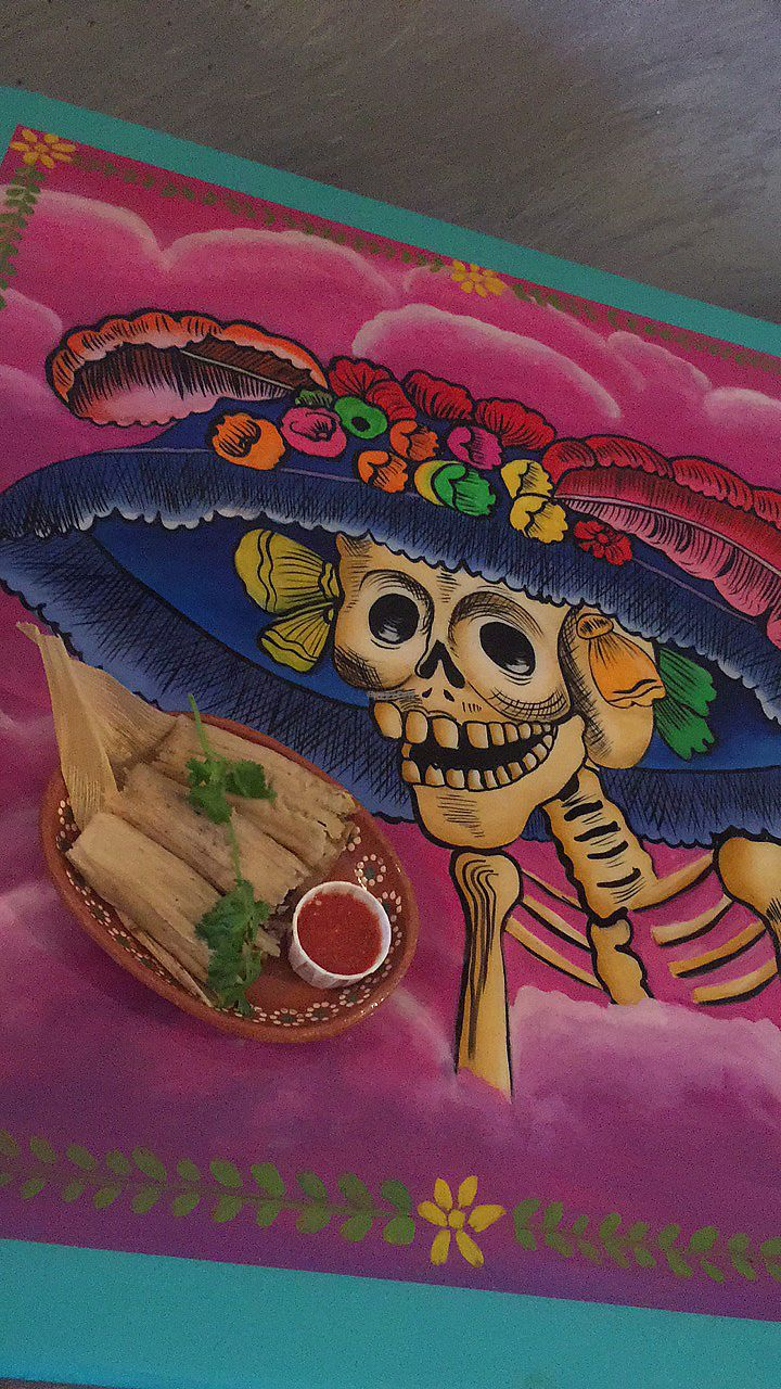 """Photo of Frida's Cafe  by <a href=""""/members/profile/happycowgirl"""">happycowgirl</a> <br/>Vegan tamales <br/> October 7, 2017  - <a href='/contact/abuse/image/88806/312543'>Report</a>"""