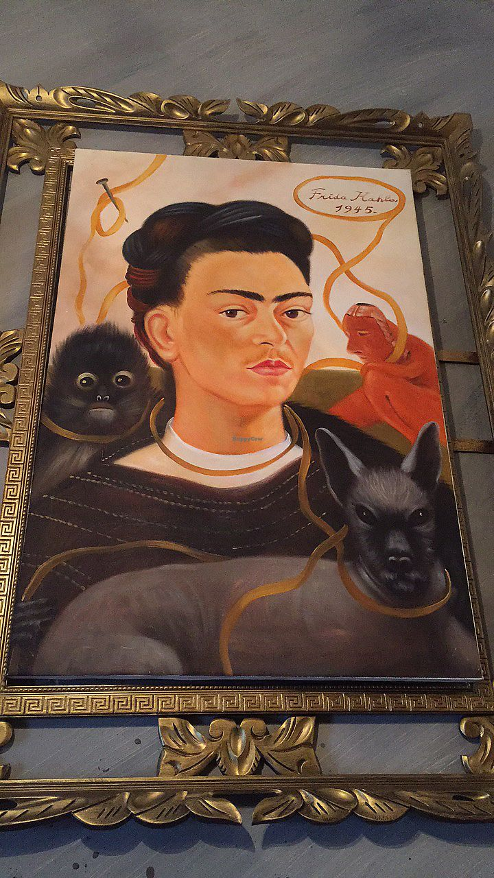 """Photo of Frida's Cafe  by <a href=""""/members/profile/happycowgirl"""">happycowgirl</a> <br/>Cool Frida artwork everywhere! <br/> October 7, 2017  - <a href='/contact/abuse/image/88806/312544'>Report</a>"""