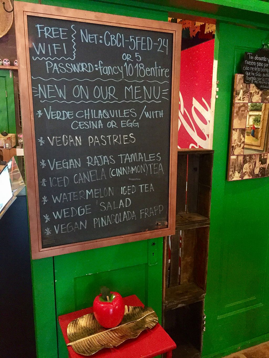 """Photo of Frida's Cafe  by <a href=""""/members/profile/happycowgirl"""">happycowgirl</a> <br/>Lots of new vegan options <br/> October 7, 2017  - <a href='/contact/abuse/image/88806/312545'>Report</a>"""