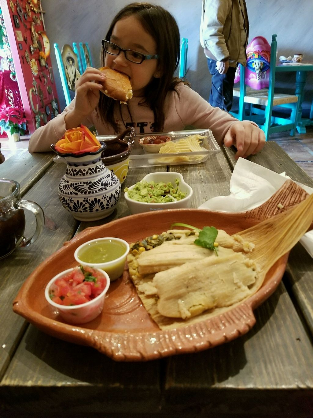 """Photo of Frida's Cafe  by <a href=""""/members/profile/RachelSarahGeorge"""">RachelSarahGeorge</a> <br/>Best tamales! <br/> December 17, 2017  - <a href='/contact/abuse/image/88806/336533'>Report</a>"""