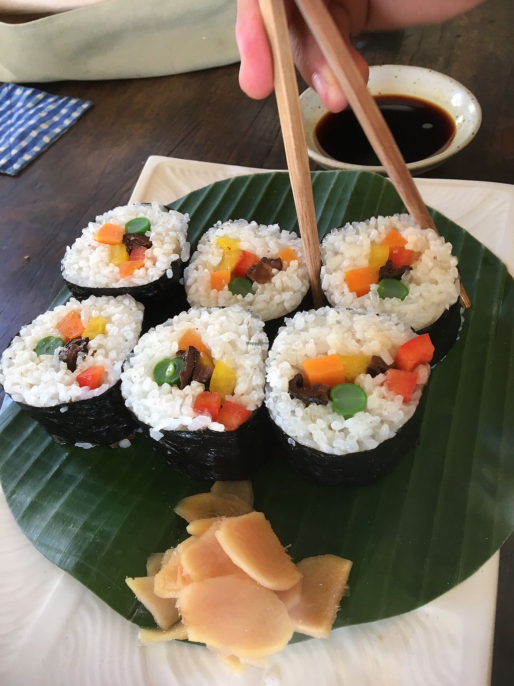 "Photo of Cafe Beras  by <a href=""/members/profile/allyandlouis"">allyandlouis</a> <br/>Delicious big sushi  <br/> March 22, 2018  - <a href='/contact/abuse/image/88838/374144'>Report</a>"