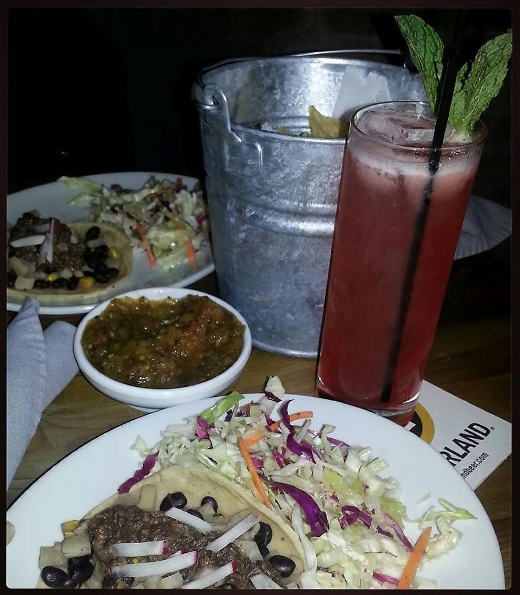 """Photo of CLOSED: The General  by <a href=""""/members/profile/community5"""">community5</a> <br/>""""No Bones About It"""" Taco, slaw, Poblano salsa & chips with vegan cocktail <br/> March 18, 2017  - <a href='/contact/abuse/image/88877/238142'>Report</a>"""