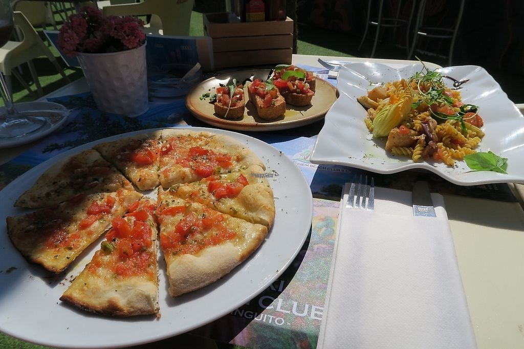 "Photo of Chiki Beach Club  by <a href=""/members/profile/C%26S"">C&S</a> <br/>Vegan vegetable pizza, bruschetta, noodles with vegetables.  <br/> April 15, 2017  - <a href='/contact/abuse/image/88880/248328'>Report</a>"