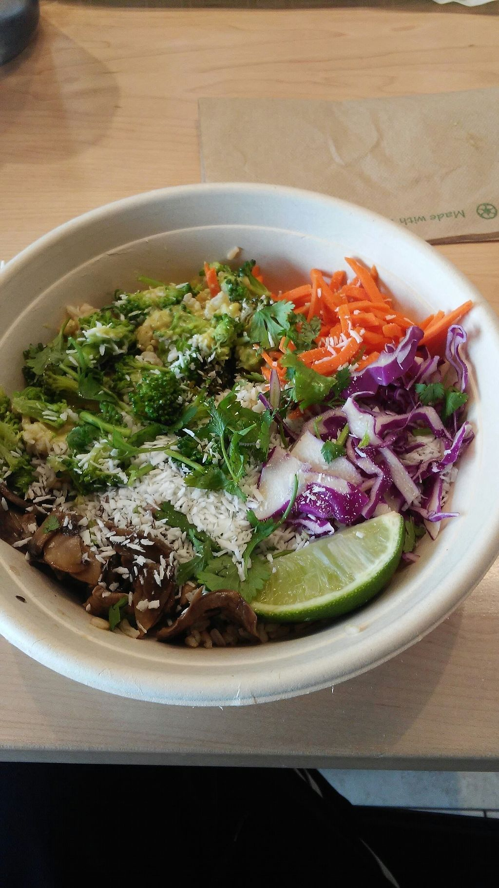 """Photo of freshii  by <a href=""""/members/profile/Totallynotvegan"""">Totallynotvegan</a> <br/>Bamboo bowl <br/> July 13, 2017  - <a href='/contact/abuse/image/88890/279659'>Report</a>"""
