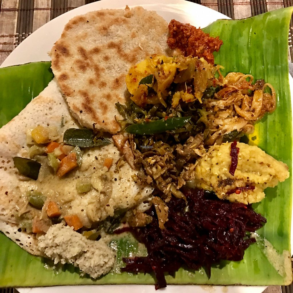 "Photo of Banana Leaf  by <a href=""/members/profile/PetrFrolich"">PetrFrolich</a> <br/>Few different curries served on banana leaf <br/> March 20, 2017  - <a href='/contact/abuse/image/88891/238659'>Report</a>"