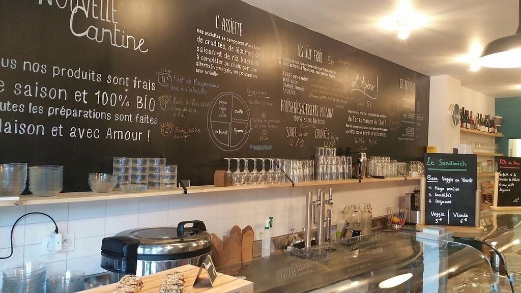 """Photo of La Nouvelle Cantine  by <a href=""""/members/profile/Oxygene"""">Oxygene</a> <br/>The menu <br/> April 18, 2017  - <a href='/contact/abuse/image/88907/249683'>Report</a>"""