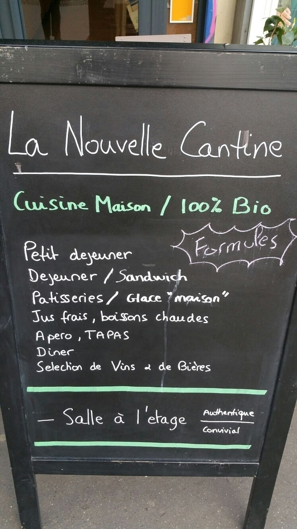 """Photo of La Nouvelle Cantine  by <a href=""""/members/profile/Oxygene"""">Oxygene</a> <br/>The menu <br/> April 18, 2017  - <a href='/contact/abuse/image/88907/249684'>Report</a>"""