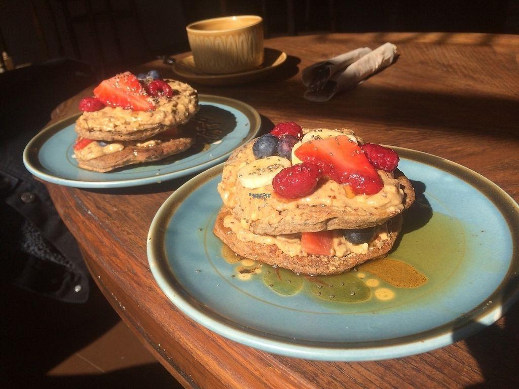 """Photo of Sukha Lounge  by <a href=""""/members/profile/GracieDaSilva"""">GracieDaSilva</a> <br/>Incredible pancake stack!  <br/> March 25, 2017  - <a href='/contact/abuse/image/88916/240719'>Report</a>"""
