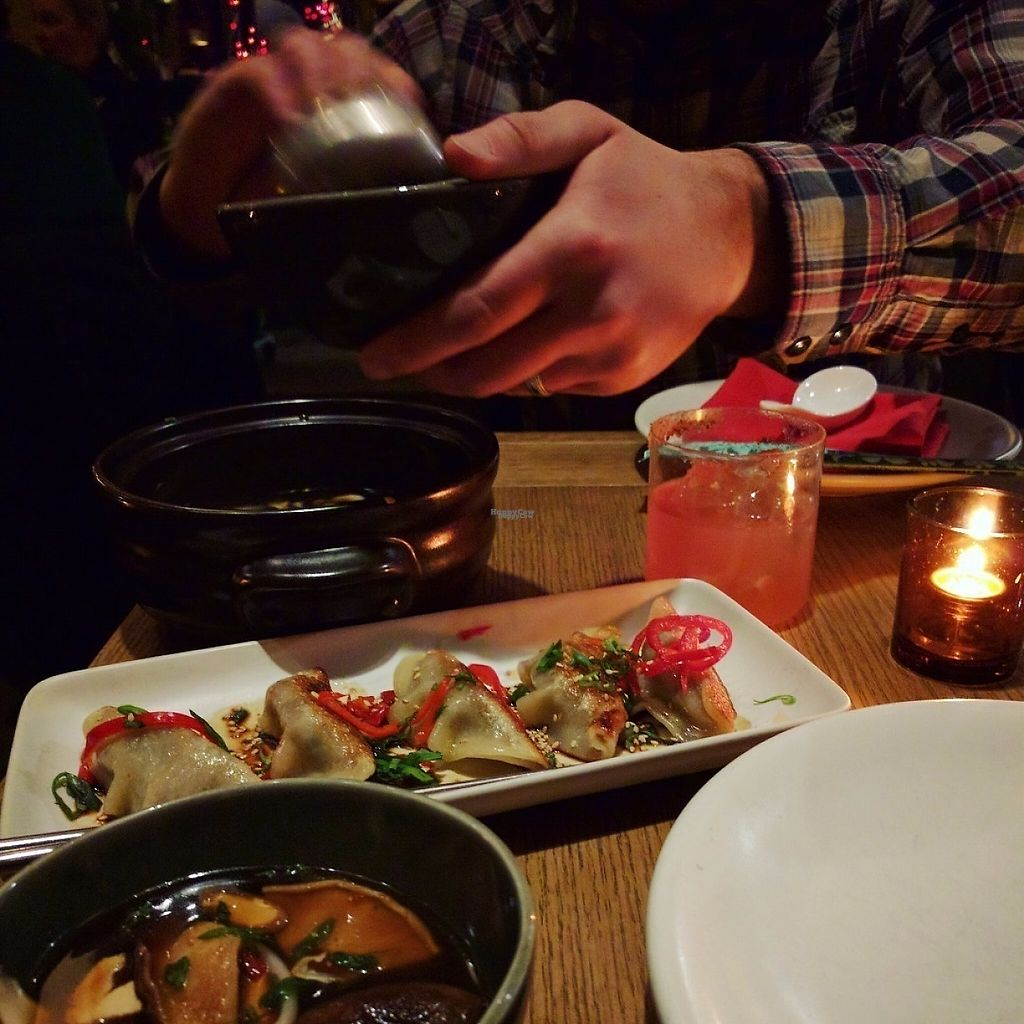 """Photo of Duck Duck Goat  by <a href=""""/members/profile/makemenervous"""">makemenervous</a> <br/>Veggie Potstickers and Hot & Sour Soup <br/> March 20, 2017  - <a href='/contact/abuse/image/88938/238832'>Report</a>"""