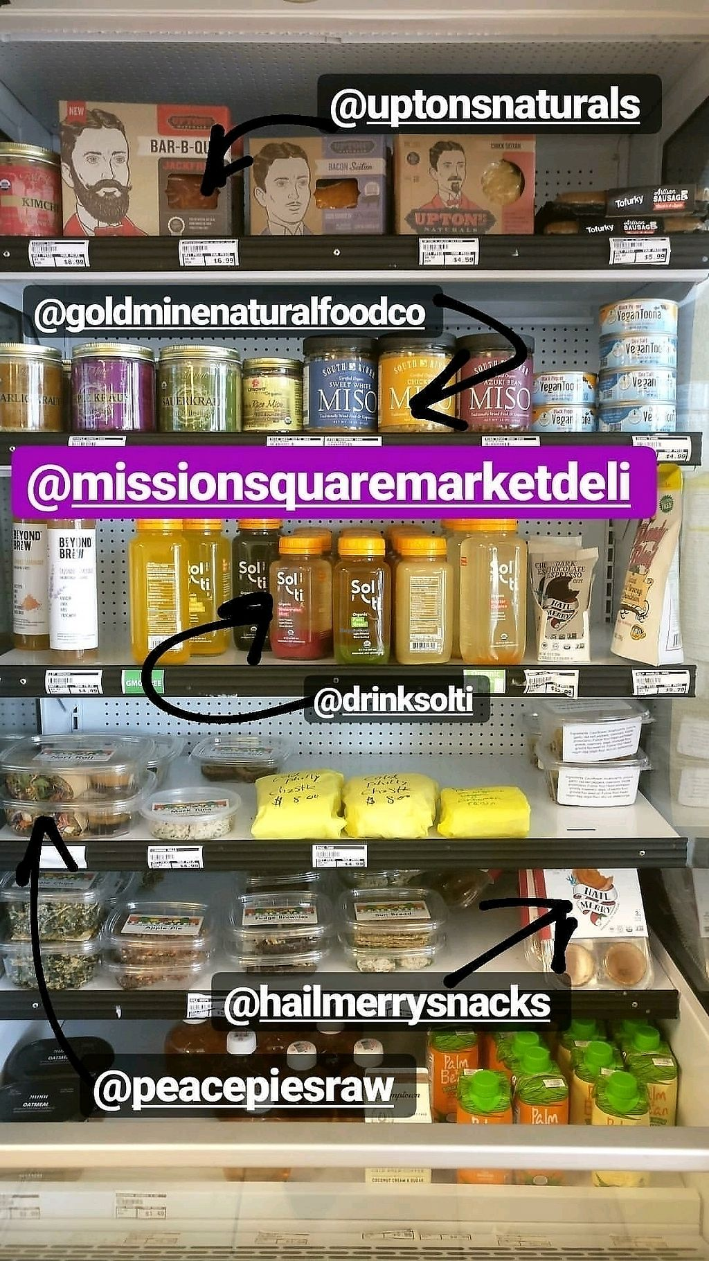 """Photo of Mission Square Market Vegan Deli  by <a href=""""/members/profile/KellyBone"""">KellyBone</a> <br/>vegan cold case <br/> September 10, 2017  - <a href='/contact/abuse/image/88946/302770'>Report</a>"""