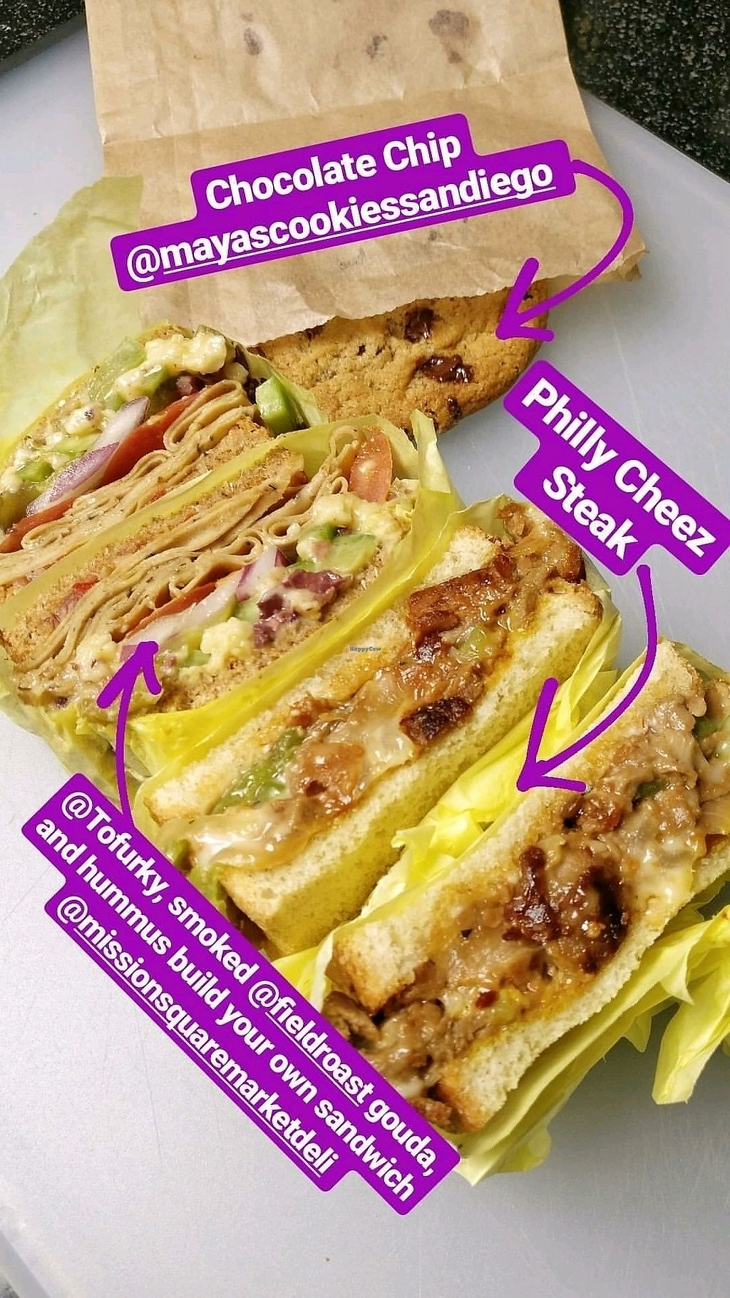 """Photo of Mission Square Market Vegan Deli  by <a href=""""/members/profile/KellyBone"""">KellyBone</a> <br/>sandwiches!  <br/> September 10, 2017  - <a href='/contact/abuse/image/88946/302771'>Report</a>"""