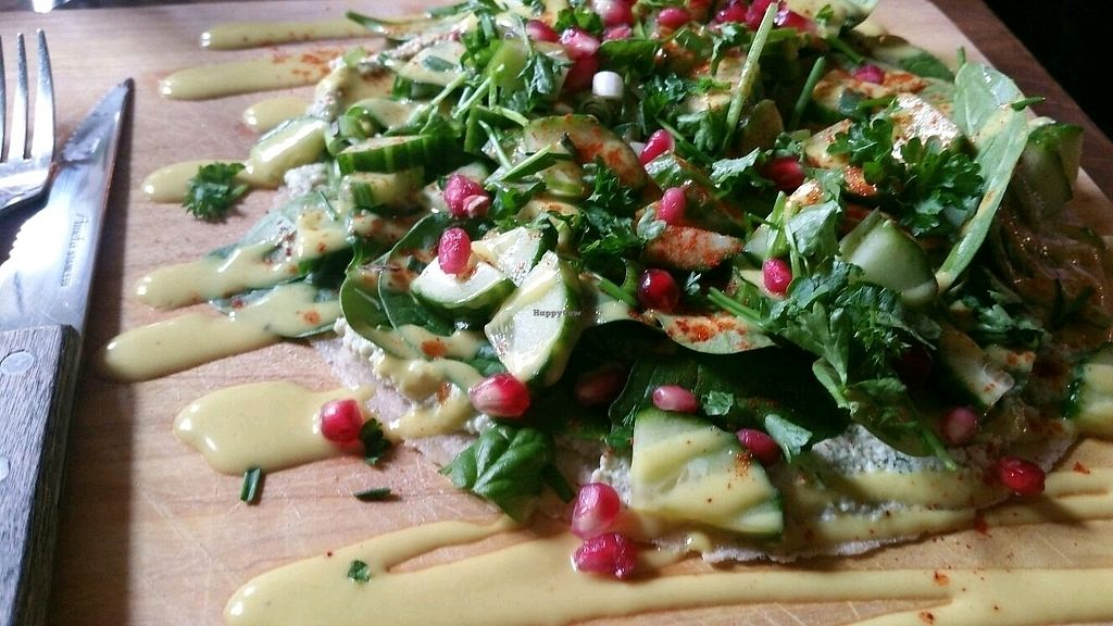 """Photo of Oerwoud  by <a href=""""/members/profile/mostlyvegan75"""">mostlyvegan75</a> <br/>Green salad wrap <br/> March 23, 2018  - <a href='/contact/abuse/image/88965/374976'>Report</a>"""