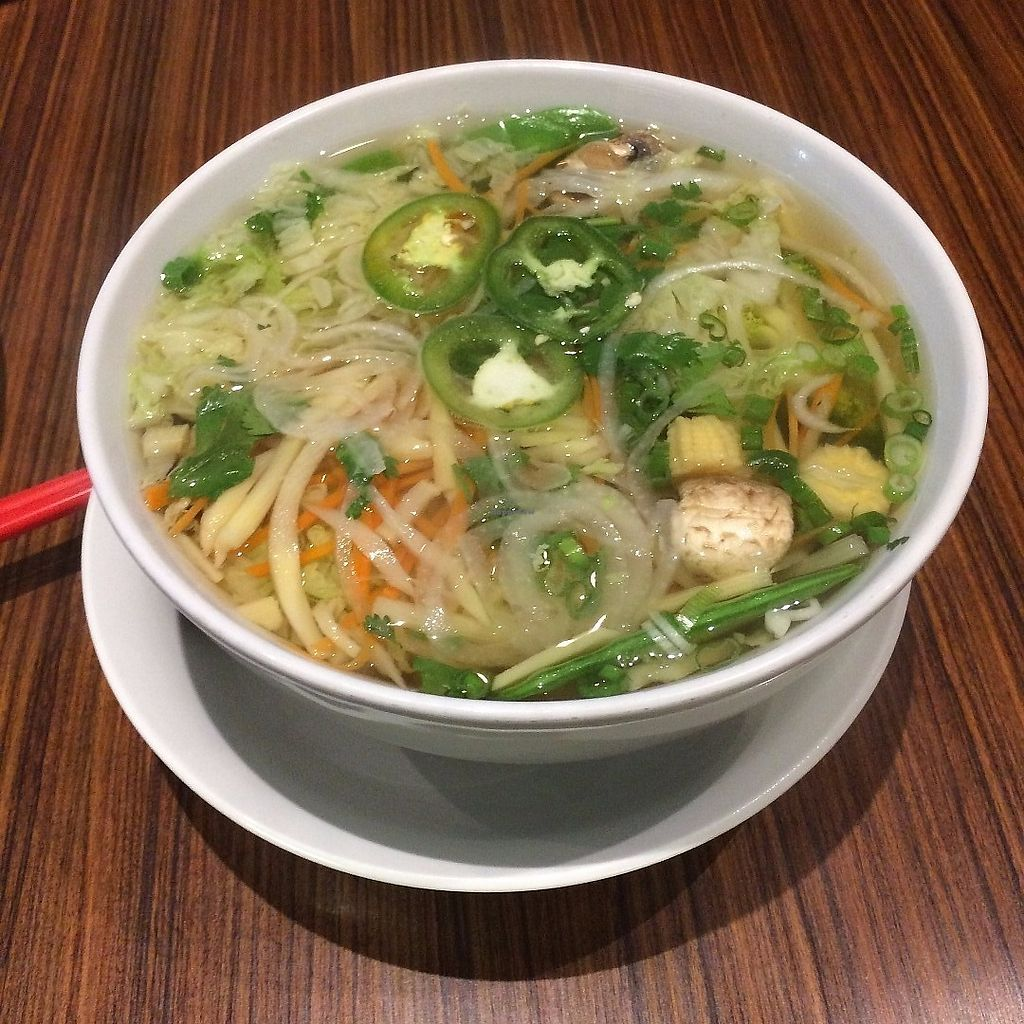 """Photo of House of Lu  by <a href=""""/members/profile/KatieBush"""">KatieBush</a> <br/>Vegan pho <br/> June 19, 2017  - <a href='/contact/abuse/image/88967/270712'>Report</a>"""