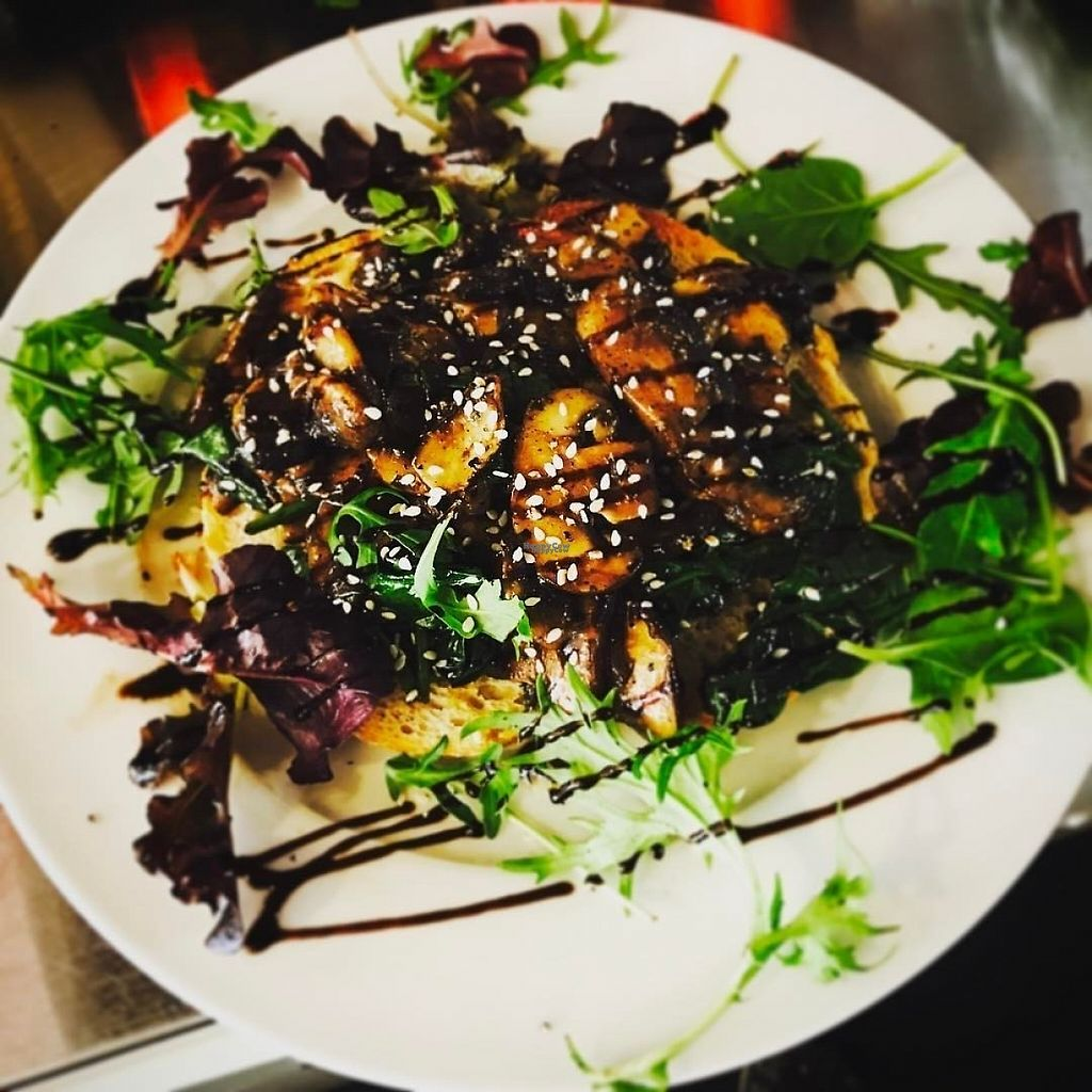 """Photo of CLOSED: The Sound Lounge  by <a href=""""/members/profile/HannahWhiterthanwhite"""">HannahWhiterthanwhite</a> <br/>Mushrooms on Toast.  Cooked in a garlic, soy and balsamic glaze.  Served with wilted spinach <br/> March 21, 2017  - <a href='/contact/abuse/image/88969/239232'>Report</a>"""