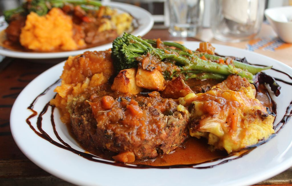 """Photo of CLOSED: The Sound Lounge  by <a href=""""/members/profile/kezia"""">kezia</a> <br/>The Amazing 100% Vegan Sunday roast - Worth booking and travelling for! <br/> October 3, 2017  - <a href='/contact/abuse/image/88969/311436'>Report</a>"""