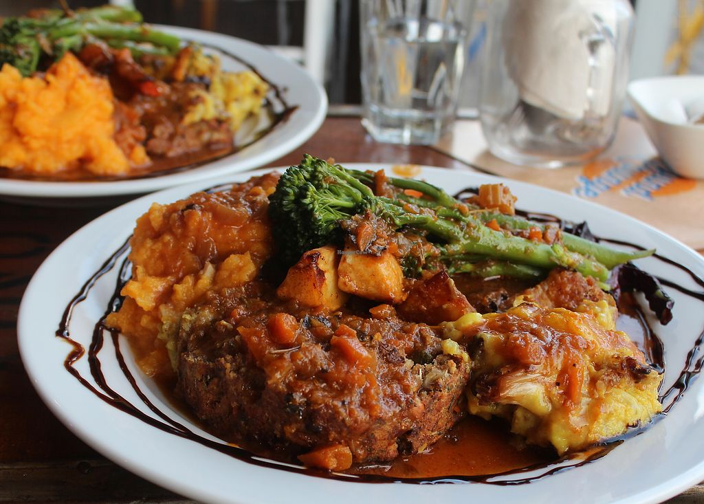 """Photo of CLOSED: The Sound Lounge  by <a href=""""/members/profile/kezia"""">kezia</a> <br/>The Amazing 100% Vegan Sunday roast - Worth booking and travelling for! <br/> October 3, 2017  - <a href='/contact/abuse/image/88969/311437'>Report</a>"""