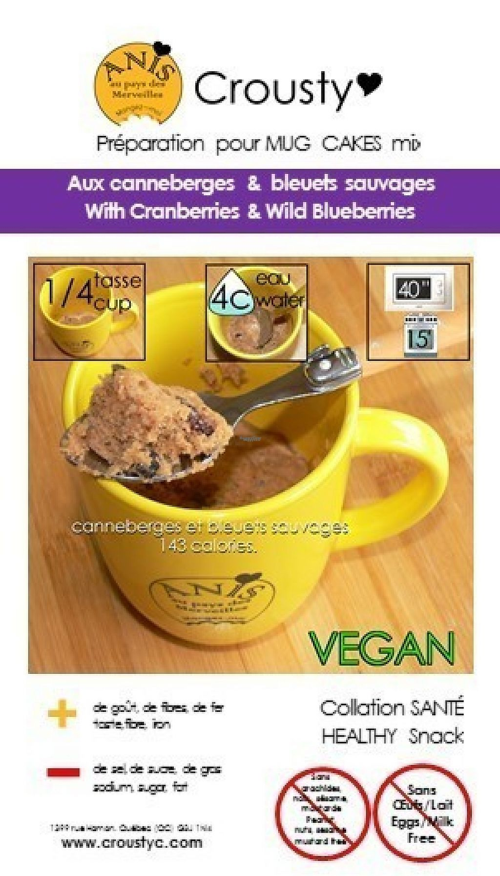 """Photo of Anis au Pays des Merveilles  by <a href=""""/members/profile/fibag21"""">fibag21</a> <br/>mug cakes mix with cranberries and wild blueberries <br/> March 20, 2017  - <a href='/contact/abuse/image/88975/238855'>Report</a>"""