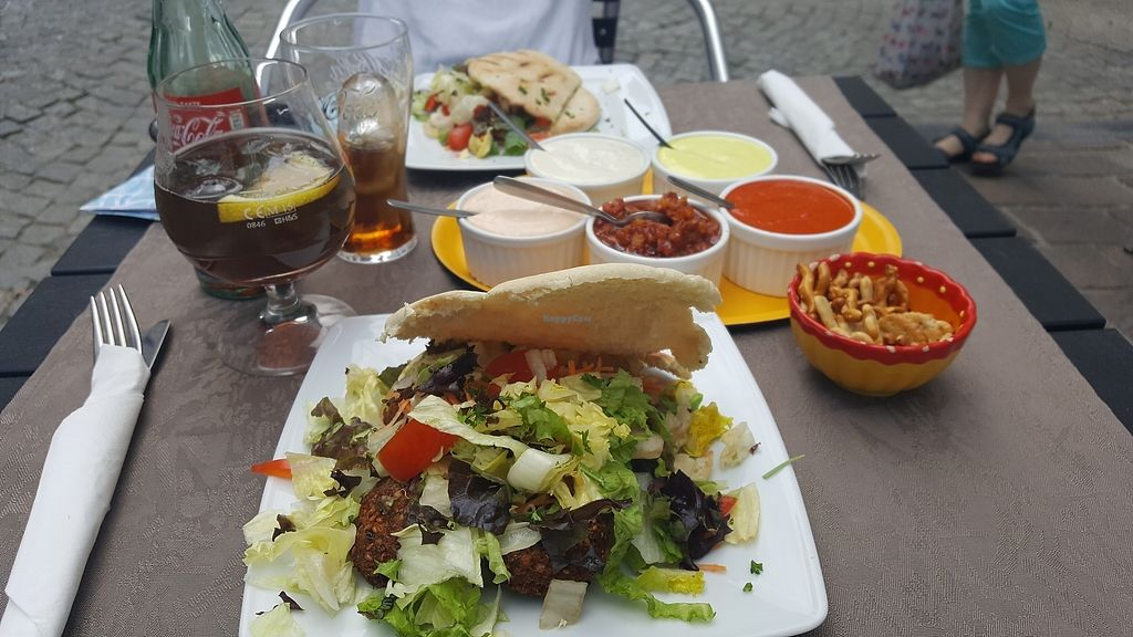 "Photo of Pittahuis  by <a href=""/members/profile/Athina"">Athina</a> <br/>the Falafel pita with dips <br/> July 24, 2017  - <a href='/contact/abuse/image/88981/284317'>Report</a>"